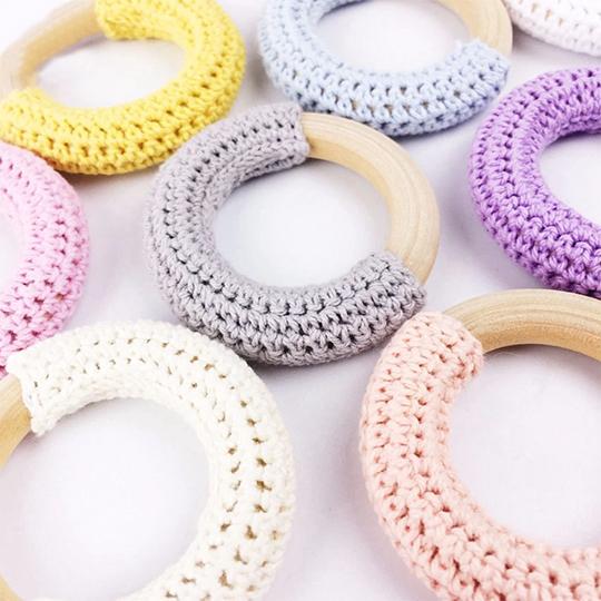 Yarn&Baby Diş Kaşıyıcı Ahşap Halka 70 mm