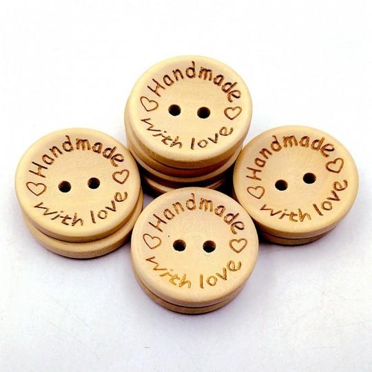 Handmade Ahşap Düğme 10'lu