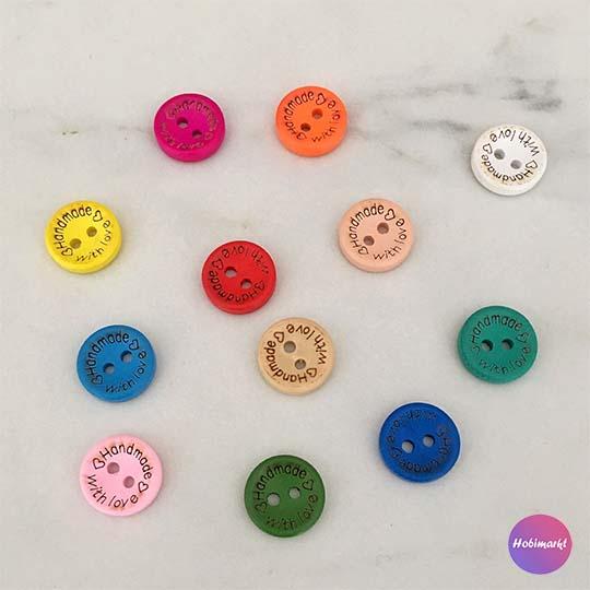 Renkli Handmade Düğme 10'lu