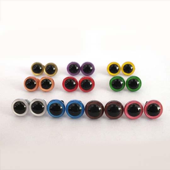 Amigurumi Renkli Kilitli Göz (5 Çift)