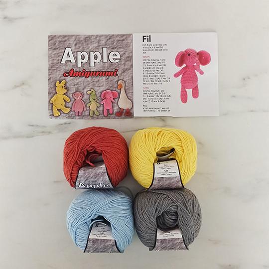 Apple Amigurumi 4'lü Set