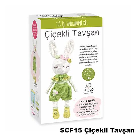 SCF15 Çiçekli Tavşan